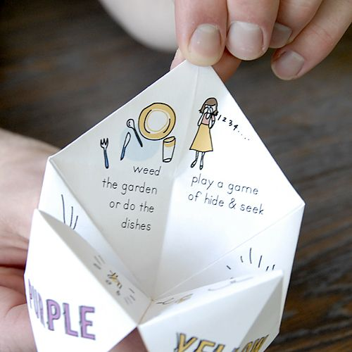 how to make a paper fortune teller instructions