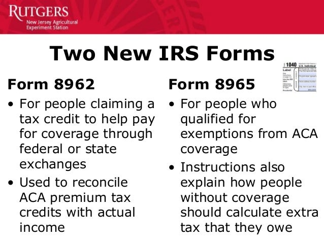 irs form 8965 instructions