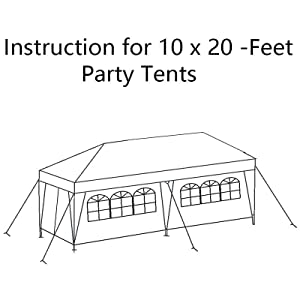 palm springs 10x30 party tent instructions