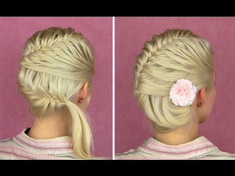 instructions on how to french braid your own hair