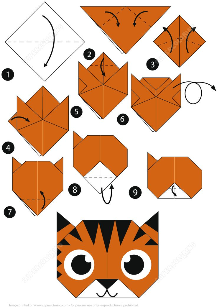 origami instructions easy printable